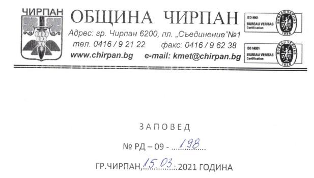 "Бюджет на СУ ""П. К. Яворов"" - гр. Чирпан Начален план 2021г."